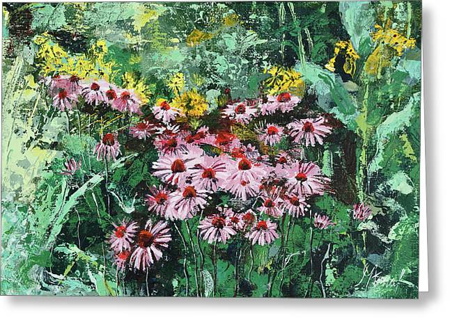 Coneflowers  Garden Greeting Card