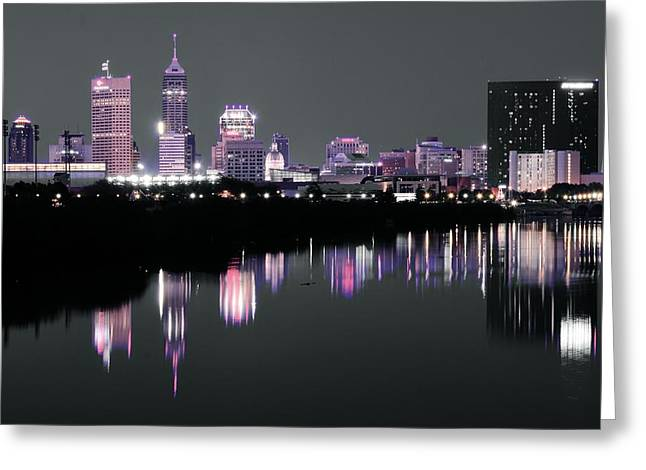 The Colors Of Indianapolis Greeting Card by Frozen in Time Fine Art Photography