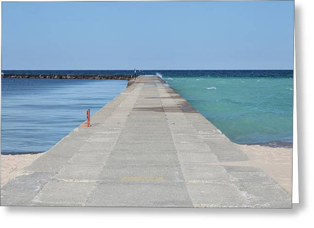 Greeting Card featuring the photograph The Colors Of Lake Michigan by Fran Riley