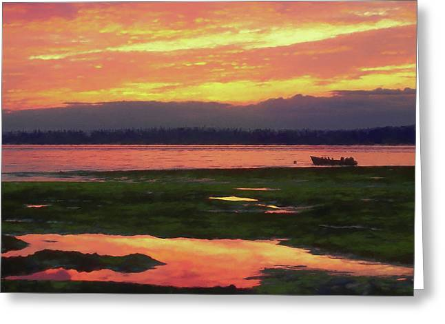 The Colors Of Ship Creek Greeting Card