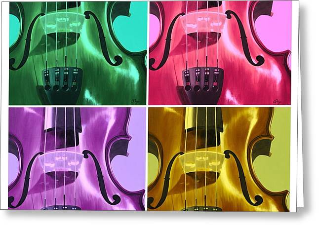 The Colors Of Sound Greeting Card