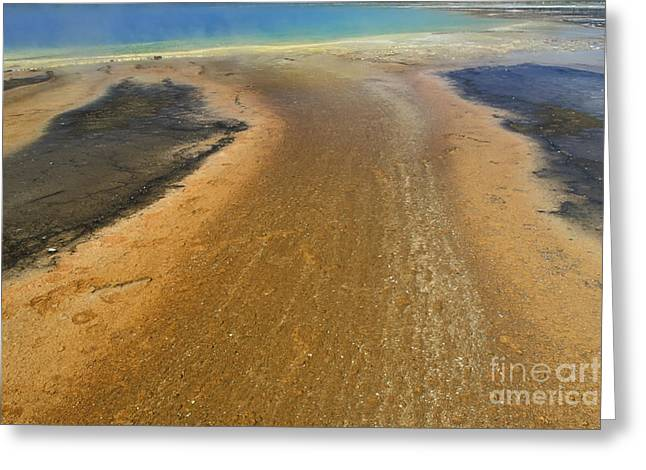 The Colors Of Yellowstone Greeting Card by Stan and Anne Foster