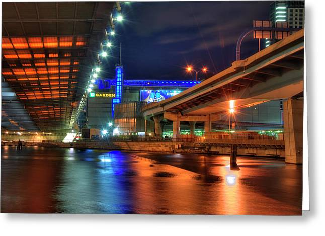 The Colors Under The Zakim - Leonard P Zakim Bridge - Boston Greeting Card