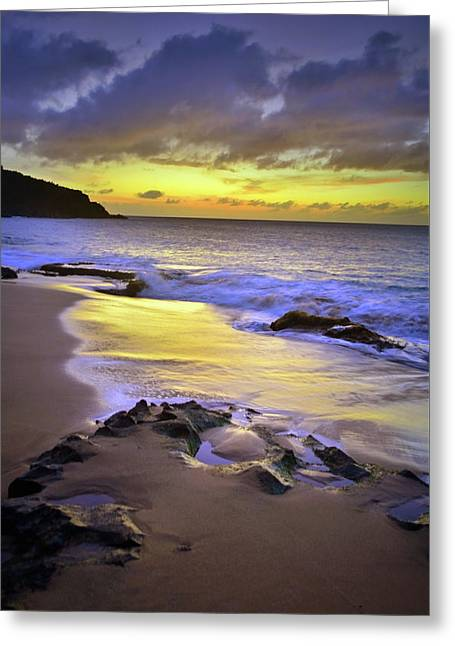 Greeting Card featuring the photograph The Colour Of Molokai Nights by Tara Turner