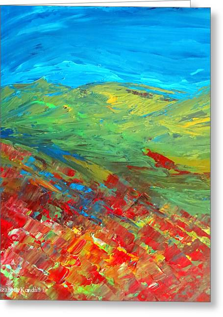 The Colour Of Summer Greeting Card by Elizabeth Kendall