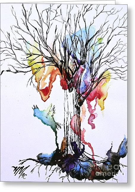 The Colour Tree Greeting Card by Haley Howard
