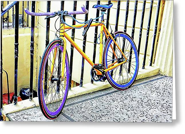 The Coloured Bicycle Greeting Card