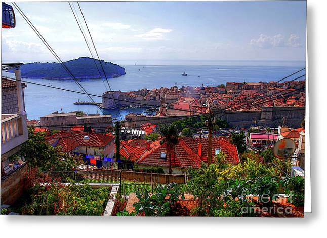 The Colourful City Of Dubrovnik Greeting Card