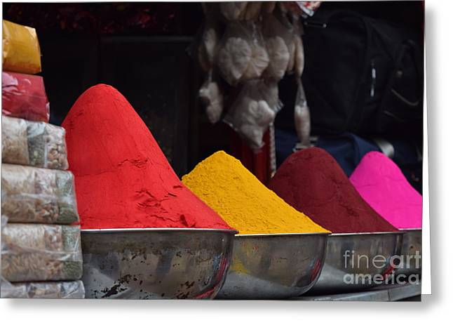 The Colours Of Holi Greeting Card