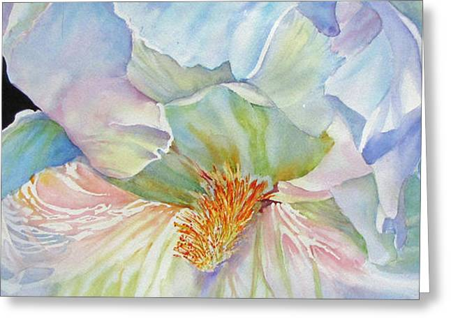The-colours-of-white Greeting Card by Nancy Newman