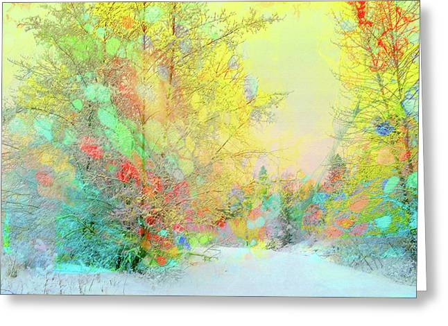 The Colours Winter Hides Inside Greeting Card by Tara Turner