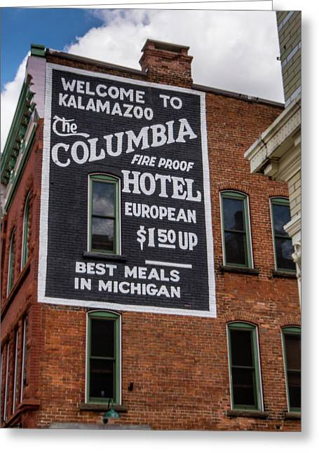 The Columbia Hotel Building Greeting Card