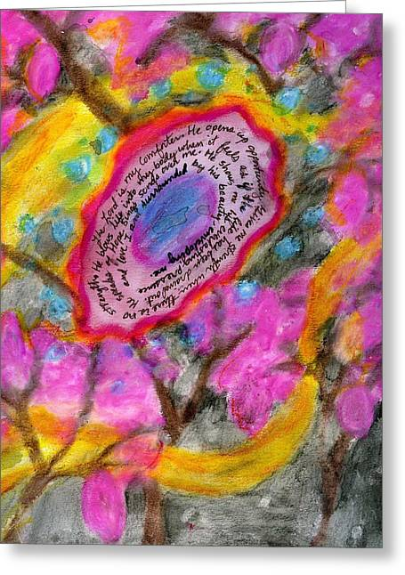 The Comfort Of His Love Greeting Card by Cassandra Donnelly