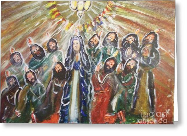 The Coming Of The Holy Spirit  Greeting Card by Seaux-N-Seau Soileau