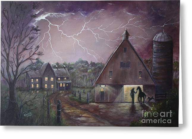 The Coming Storm Greeting Card by Marlene Kinser Bell