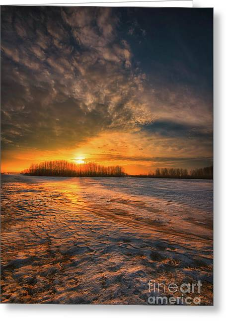 The Coming Warmth Greeting Card by Ian McGregor