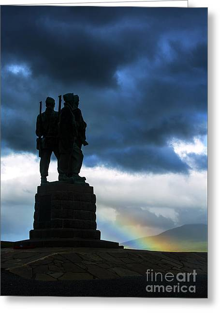 The Commando Memorial, Scotland, Uk Greeting Card by Diane Diederich