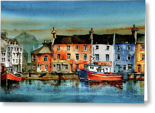 The Commercial Docks, Galway Citie Greeting Card