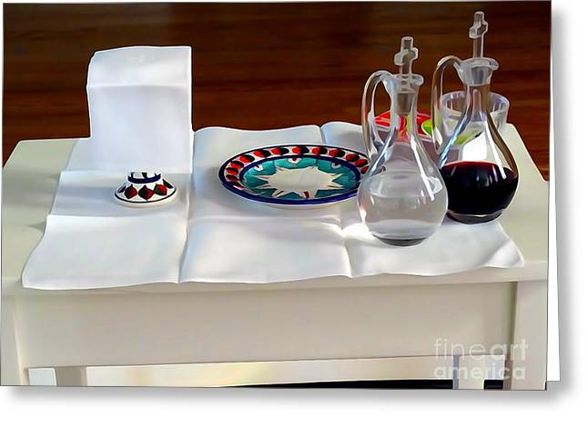 The Communion Table Greeting Card by Ed Weidman