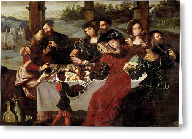 The Concert After The Meal Greeting Card by Ambrosius Benson