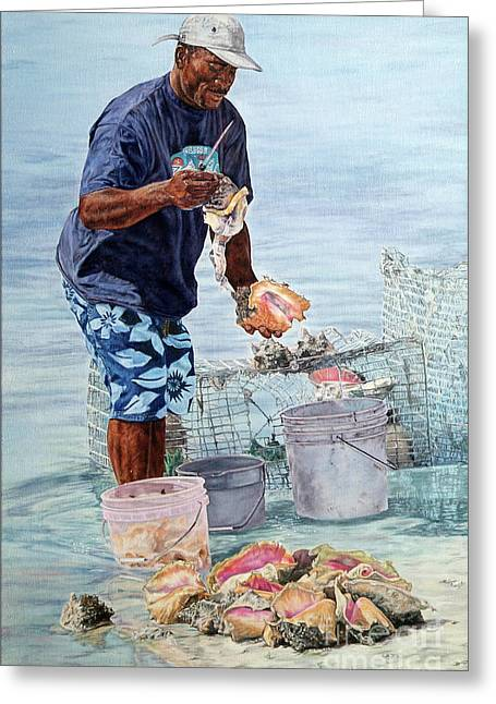 The Conch Man Greeting Card