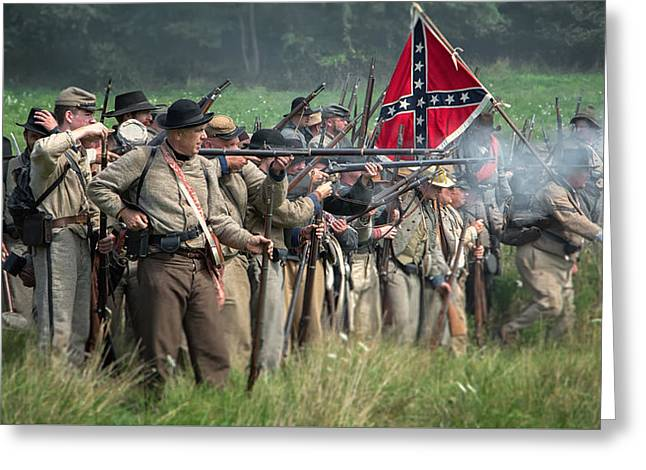 The Confederate Army  Greeting Card