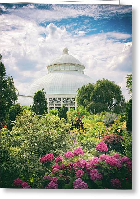 The Conservatory And Gardens Greeting Card by Jessica Jenney