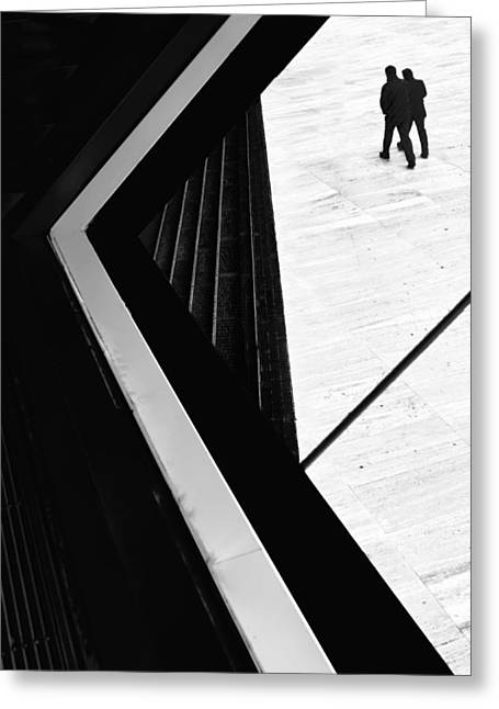 The Conspiracy Theory Greeting Card by Paulo Abrantes