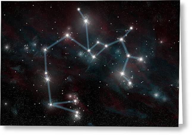 Sagittarius The Archer Greeting Card