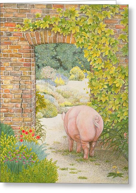 The Convent Garden Pig Greeting Card