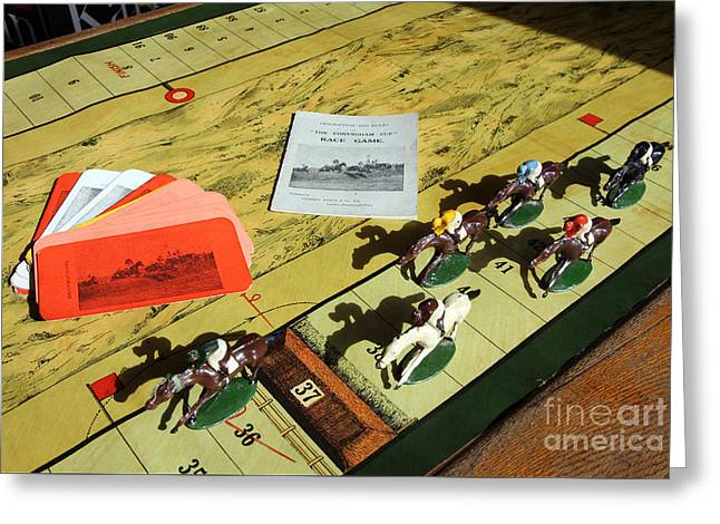 The Conyngham Cup Race Board Game Greeting Card by Ros Drinkwater