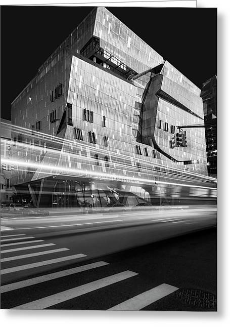 Greeting Card featuring the photograph The Cooper Union Nyc Bw by Susan Candelario
