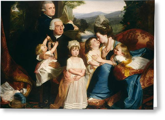 The Copley Family Greeting Card by John Singleton Copley