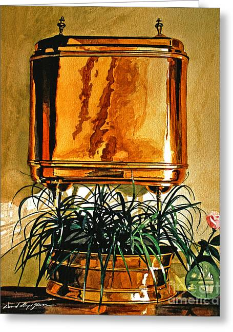 The Copper Lavabo Greeting Card by David Lloyd Glover