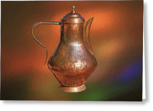 The Copper Pot Greeting Card by Donna Kennedy