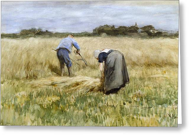 The Corn Harvest Greeting Card