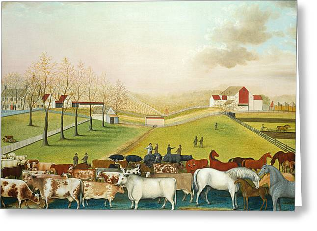 The Cornell Farm Greeting Card by Edward Hicks