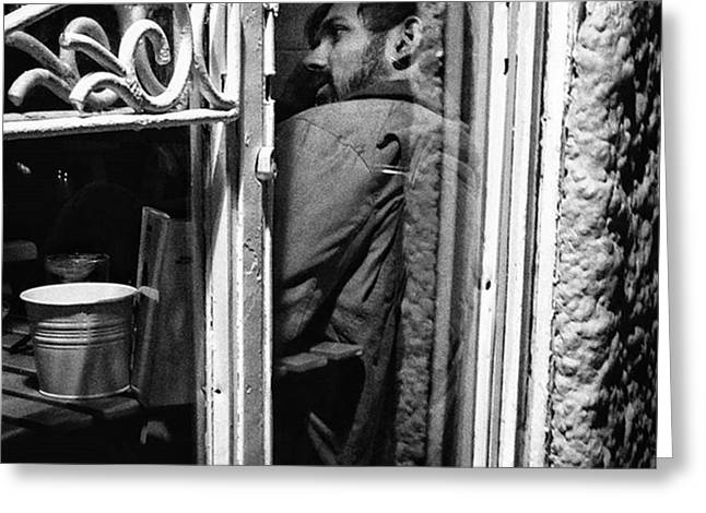 The Corner Man  #portrait #people Greeting Card
