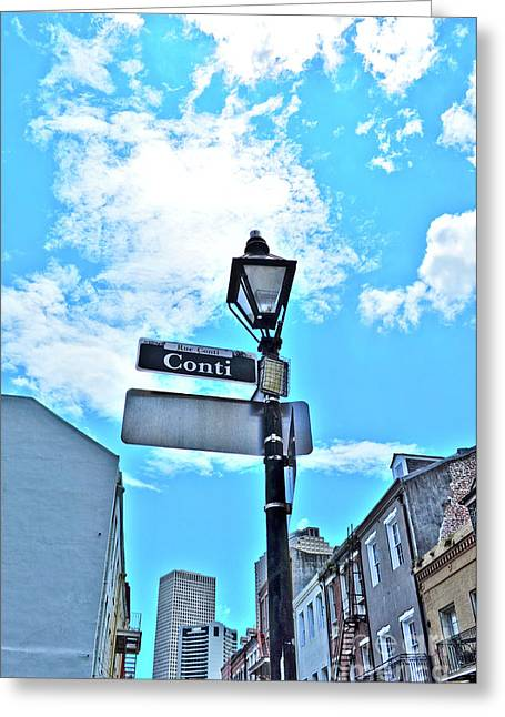 The Corner Of Conti Greeting Card