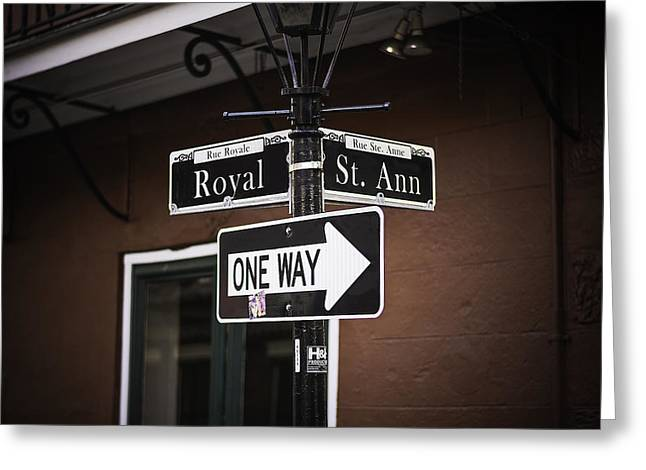 The Corner Of Royal And St. Ann, New Orleans, Louisiana Greeting Card