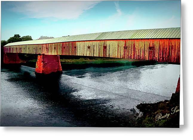 The Cornish-windsor Covered Bridge  Greeting Card
