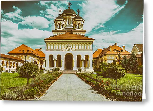 The Coronation Cathedral In Alba Iulia, Romania Greeting Card by Radu Bercan