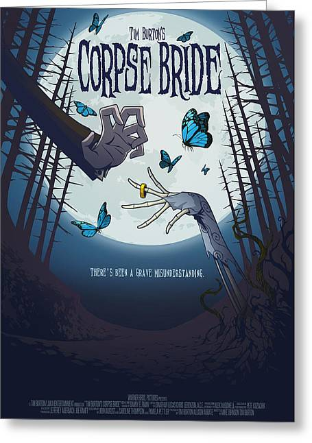 The Corpse Bride Alternative Poster Greeting Card by Christopher Ables