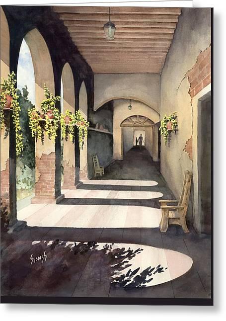 The Corridor 2 Greeting Card by Sam Sidders