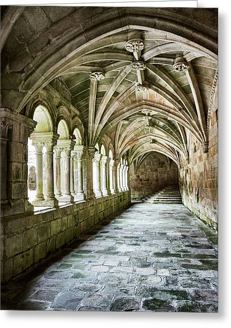 The Corridors Of The Monastery Greeting Card