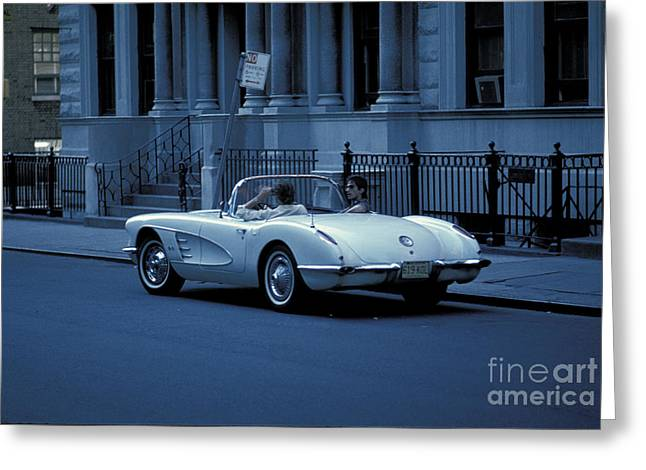 The Corvette Greeting Card by Marc Bittan