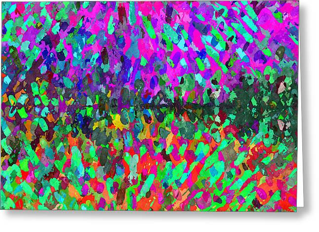 The Cosmic Dance - Abstract 4 Greeting Card