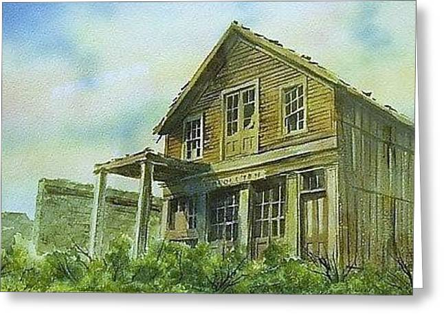 The Cosmopolitan Belmont Ghost Town Nevada Greeting Card by Kevin Heaney