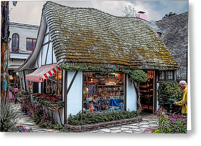 The Cottage Of Sweets - Carmel Greeting Card by Glenn McCarthy