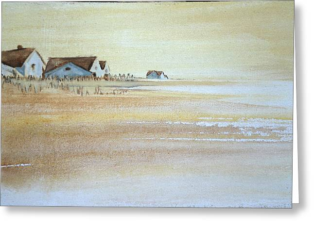 the cottages on BH Island Greeting Card by Amy Bernays